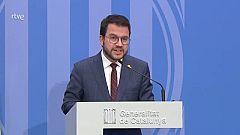 Aragonès defensa els Mossos i fa una crida a què les mobilitzacions siguin pacífiques
