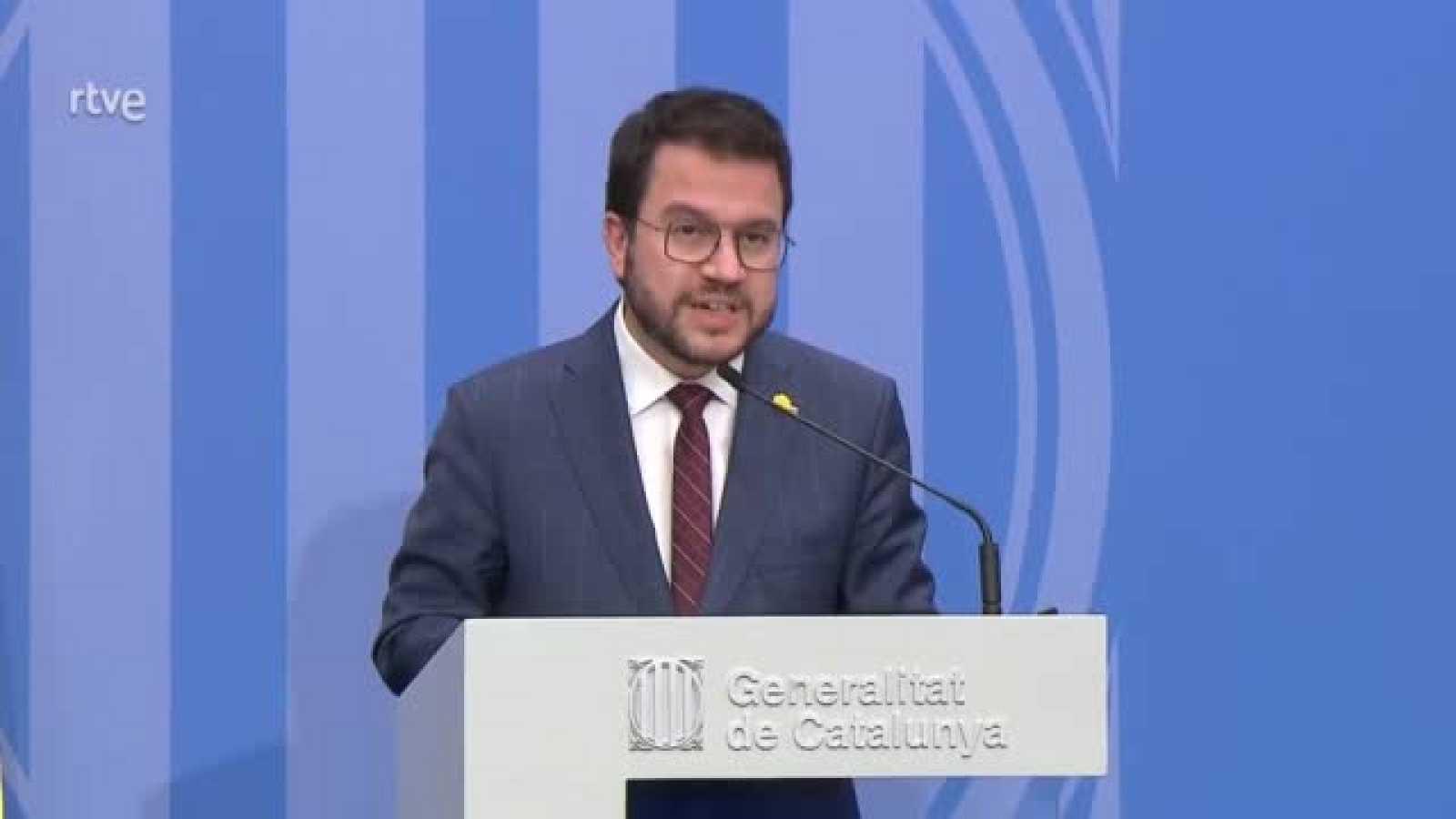Pere Aragonès defensa els Mossos d'Esquadra i fa una crida a què les mobilitzacions siguin pacífiques
