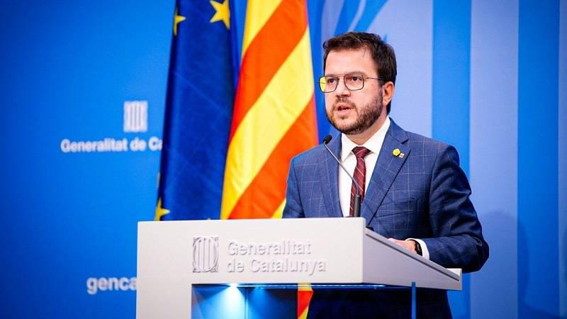 Aragonès muestra su apoyo a los Mossos al tiempo que llama a la calma y a la responsabilidad política