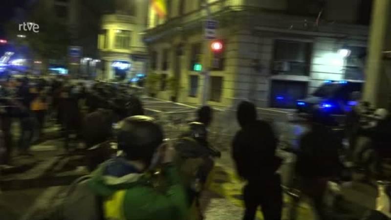Baixa la intensitat en la setena jornada de protestes a favor de Pablo Hasél