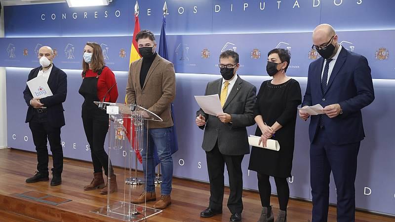 """Los independentistas abogan por """"acabar"""" con el """"régimen del 78"""" en un acto de rechazo a la conmemoración del 23F"""