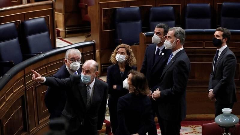Felipe VI elogia el papel de Juan Carlos I ante el golpe del 23-F