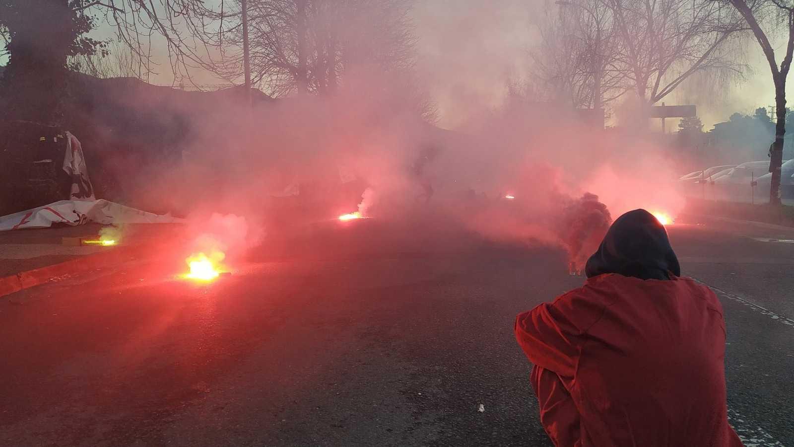 Disturbios tras la concentración contra el ERE a 150 trabajadores de Tubacex