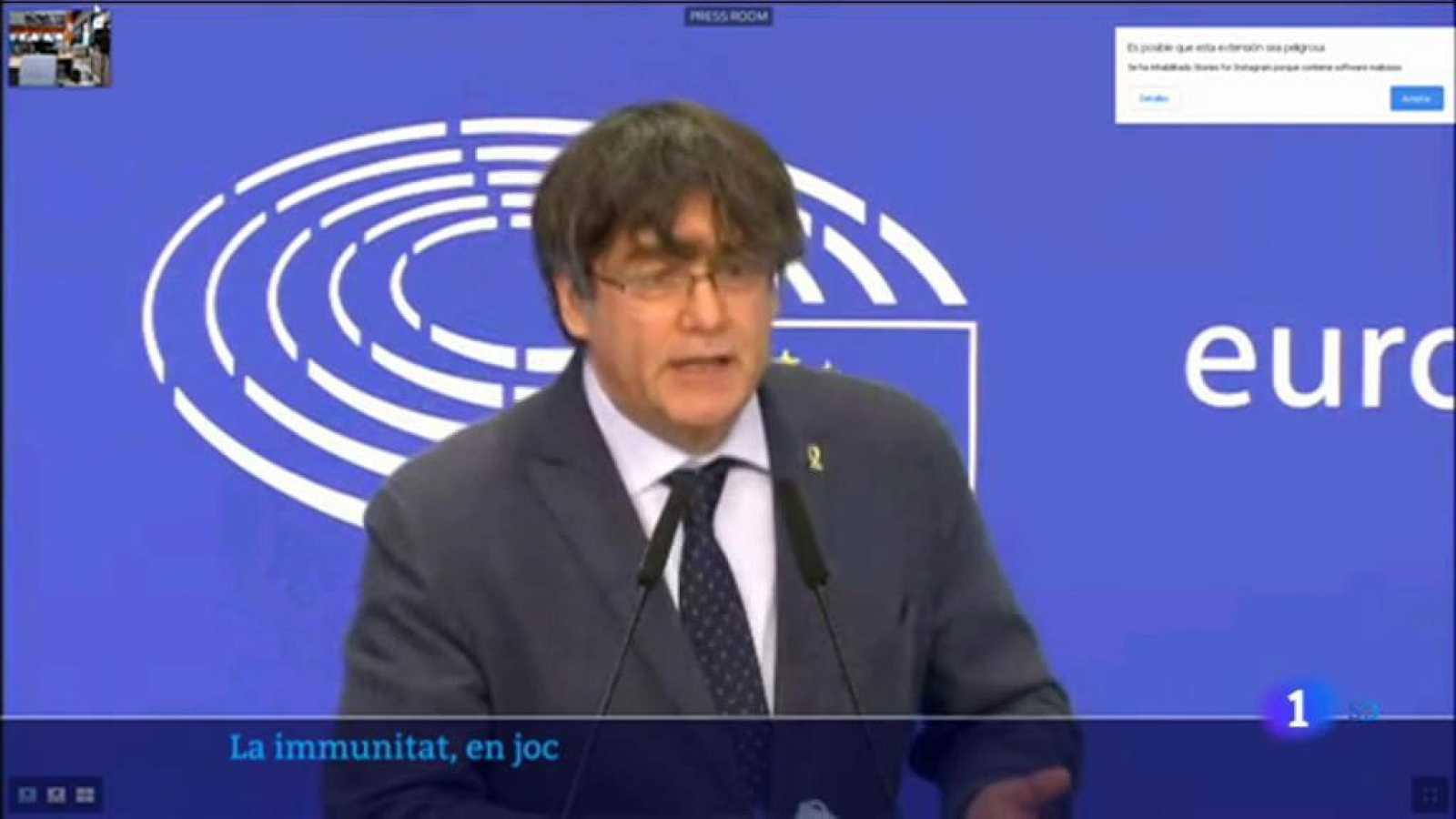 Puigdemont disposat a recorrer al TJUE si perd la immunitat