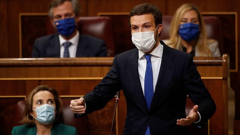 Casado pide a Sánchez que celebre el Debate del Estado de la Nación antes de verano