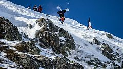 Aymar Navarro, octavo en el esquí freeride de Ordino (Andorra)