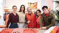 La modelo Blanca Padilla visita a los aprendices