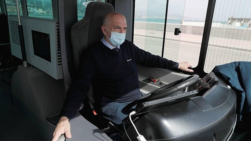 El primer autobús sin conductor de Europa ya circula por Málaga