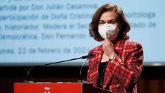 """Calvo lamenta la falta de acuerdo sobre el CGPJ porque el PP """"lleva dos años haciendo batalla de esto"""""""