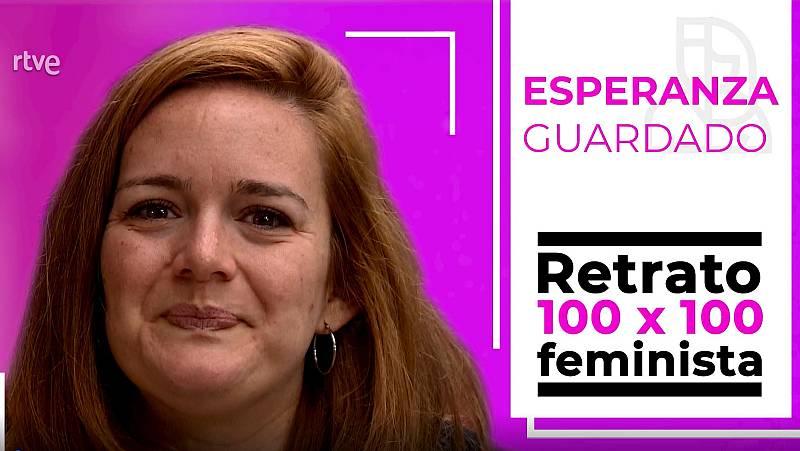 Objetivo Igualdad - Retrato 100x100 feminista: Esperanza guardado, actriz