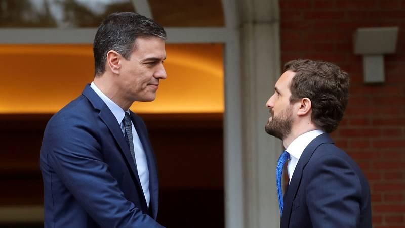 """Sánchez pide a Casado que """"rectifique"""" y acabe con los vetos y el PP insiste en excluir a Unidas Podemos del CGPJ"""