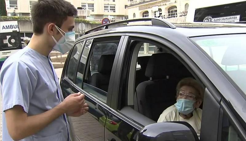 La segunda pandemia de Sabina, una de las centenarias vacunada en el País Vasco
