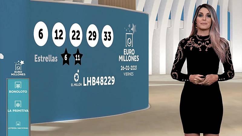 Sorteo de la Bonoloto y Euromillones del 26/02/2021 - ver ahora