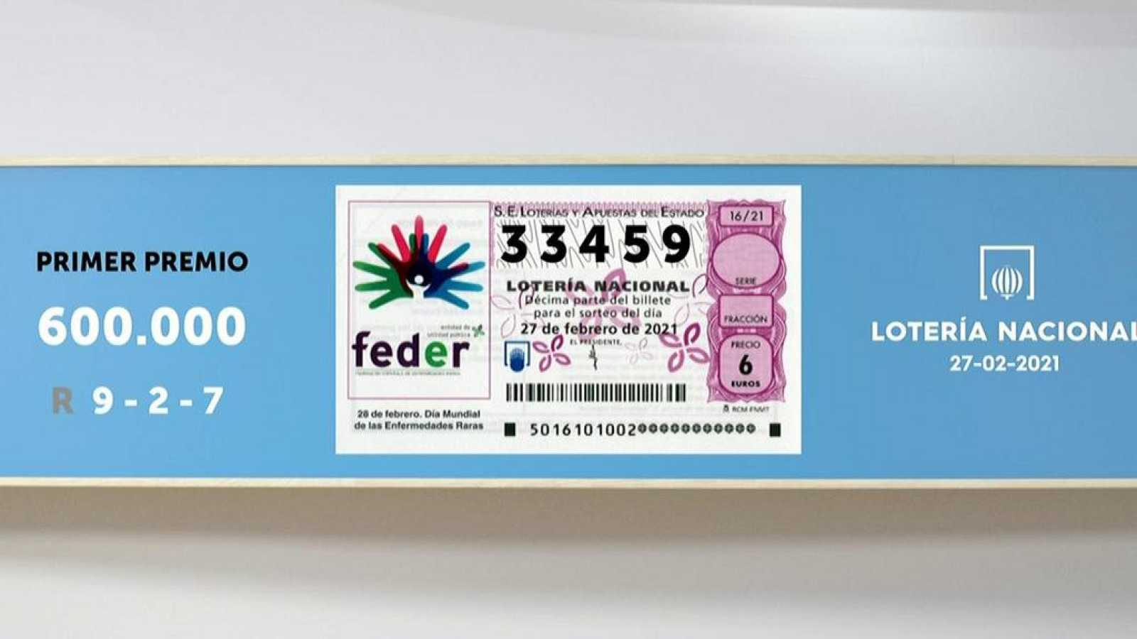 Sorteo De La Lotería Nacional 27 02 2021