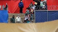 Desmantelan el campamento de migrantes de Matamoros (México)