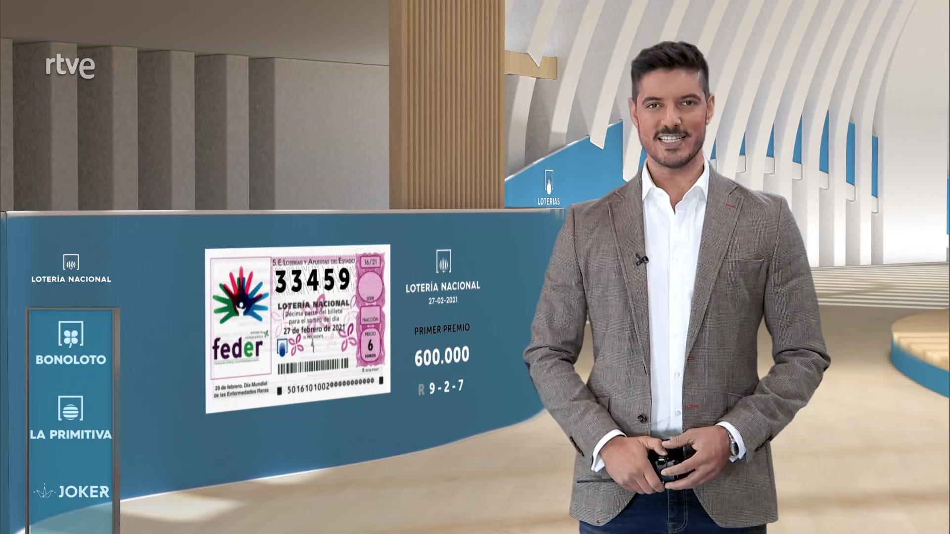 Sorteo De La Lotería Nacional Del 27 02 2021