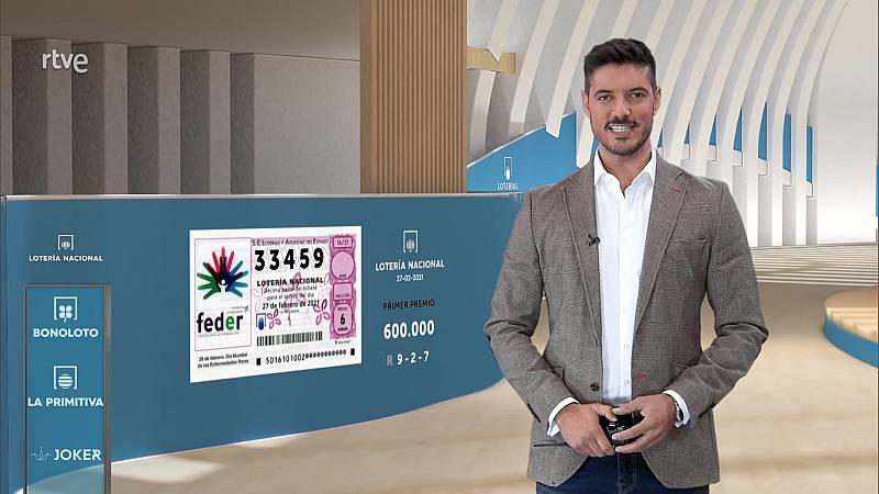 Sorteo de la Lotería Nacional del 27/02/2021 - ver ahora