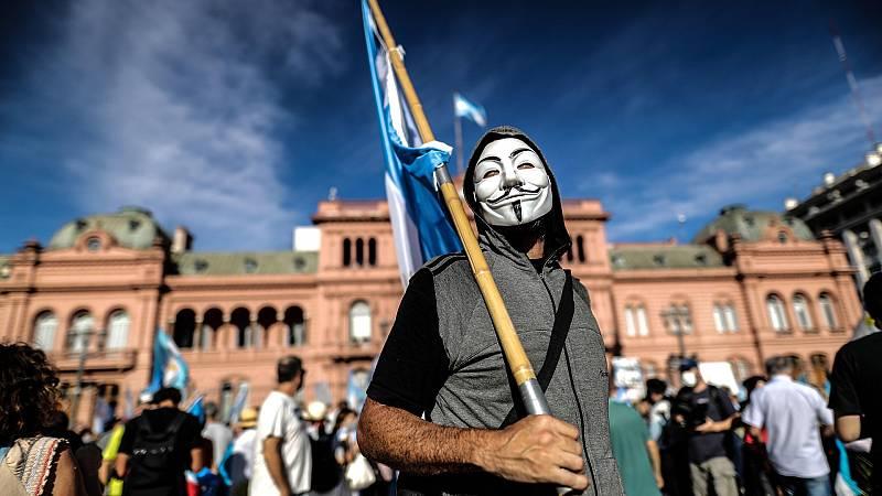 Protestas en Argentina por el escándalo de la 'vacunación VIP'