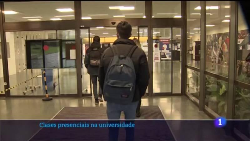 A universidades galegas recuperan as clases presenciais despois de case un mes no que só puideron ser telemáticas