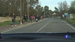 Cadena humana en Cáceres