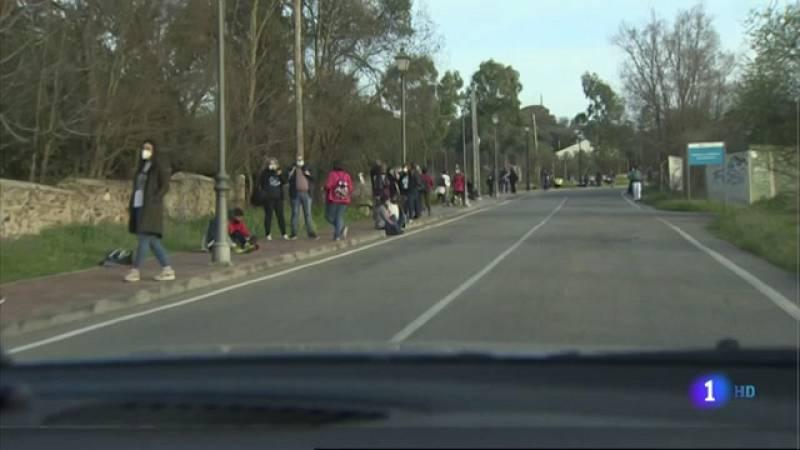 Cadena humana en Cáceres - 01-03-2021