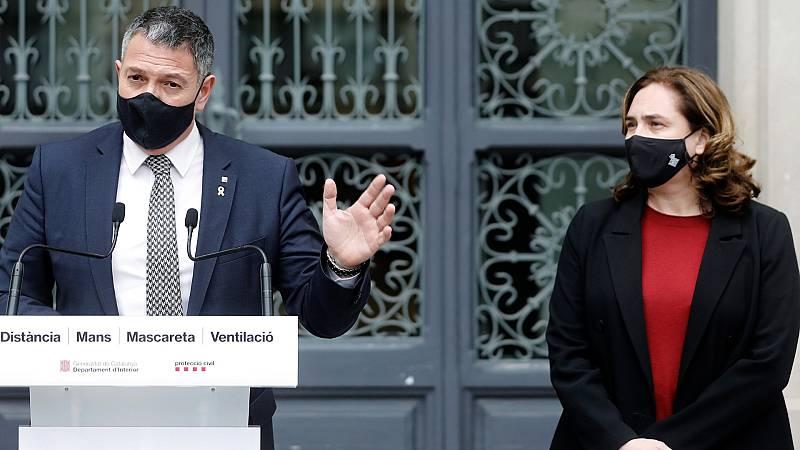 El Govern y el Ayuntamiento de Barcelona rechazan la violencia de los disturbios y apelan a la calma