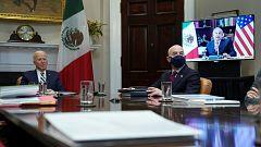 """Biden asegura que tratará a México como un """"igual"""" tras su reunión con López Obrador"""