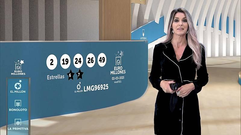 Sorteo de la Bonoloto y Euromillones del 02/03/2021 - ver ahora