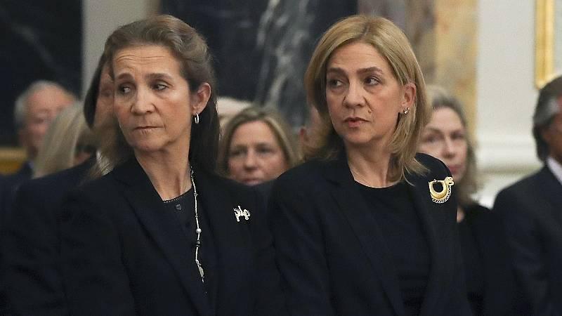 Podemos y ERC critican la supuesta vacunación de las infantas Elena y Cristina en Emiratos