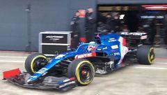 El Alpine de Alonso ya rueda en Silverstone