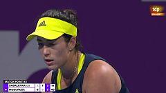 Garbiñe Muguruza gana a Aryna Sabalenka en octavos de final de Doha