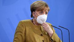 Merkel anuncia un plan de desescalada a partir del lunes y autoriza la vacuna de Astrazeneca para mayores de 65