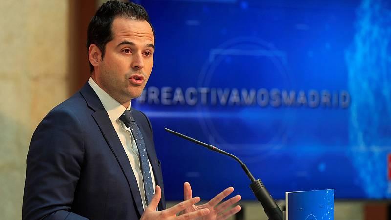 """Aguado defiende que se abra el debate de la movilidad para los vacunadas y aclara: """"La presidenta no corrige y menos una opinión"""""""
