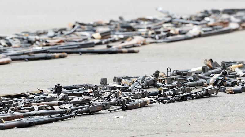 Pistolas, revólveres o fusiles de salto: el arsenal incautado a ETA