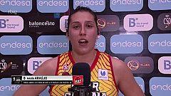 """María Araújo: """"La idea era rotar para llegar los más frescas posibles al sábado"""""""