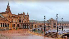 Precipitaciones fuertes en Andalucía y área del Estrecho