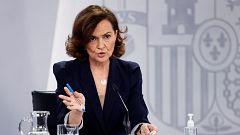 """Calvo justifica la prohibición de las manifestaciones del 8M: """"En Madrid puede suponer estar en riesgo"""""""