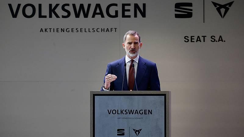 """Felipe VI respalda en Cataluña al sector del automóvil: """"Nuestro apoyo es absoluto, ya que hablamos de una industria estratégica"""""""