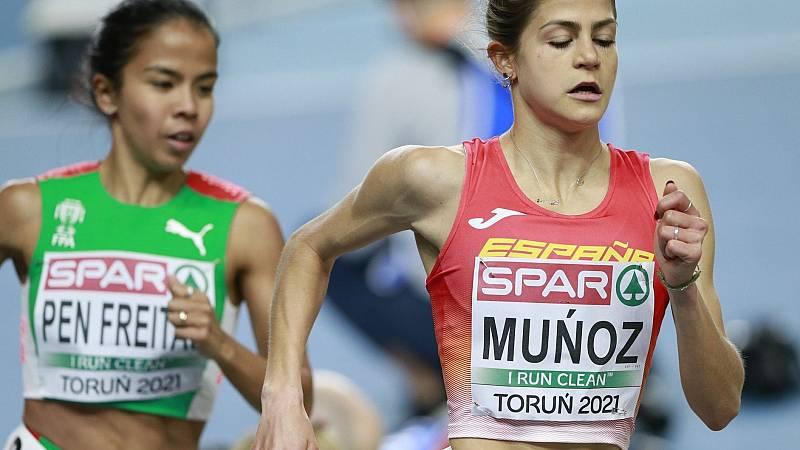 Esther Guerrero, Águeda Muñoz y Marta Pérez hacen historia en 1.500m