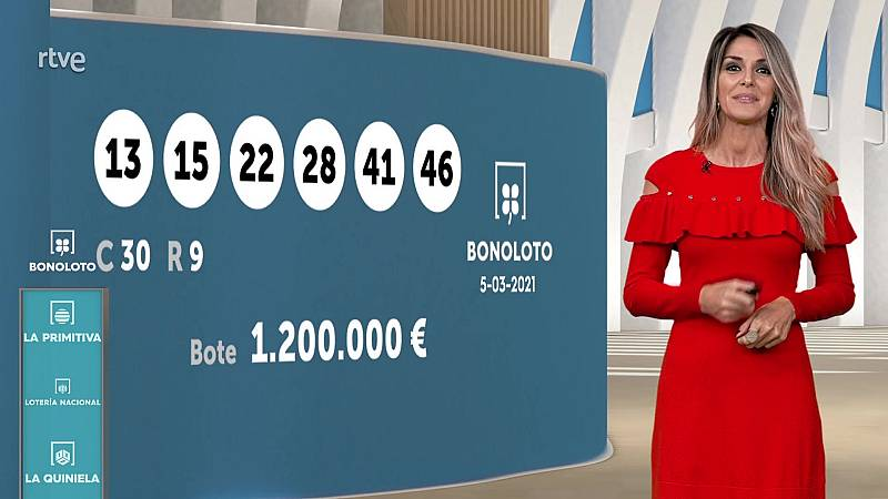 Sorteo de la Bonoloto y Euromillones del 05/03/2021 - ver ahora