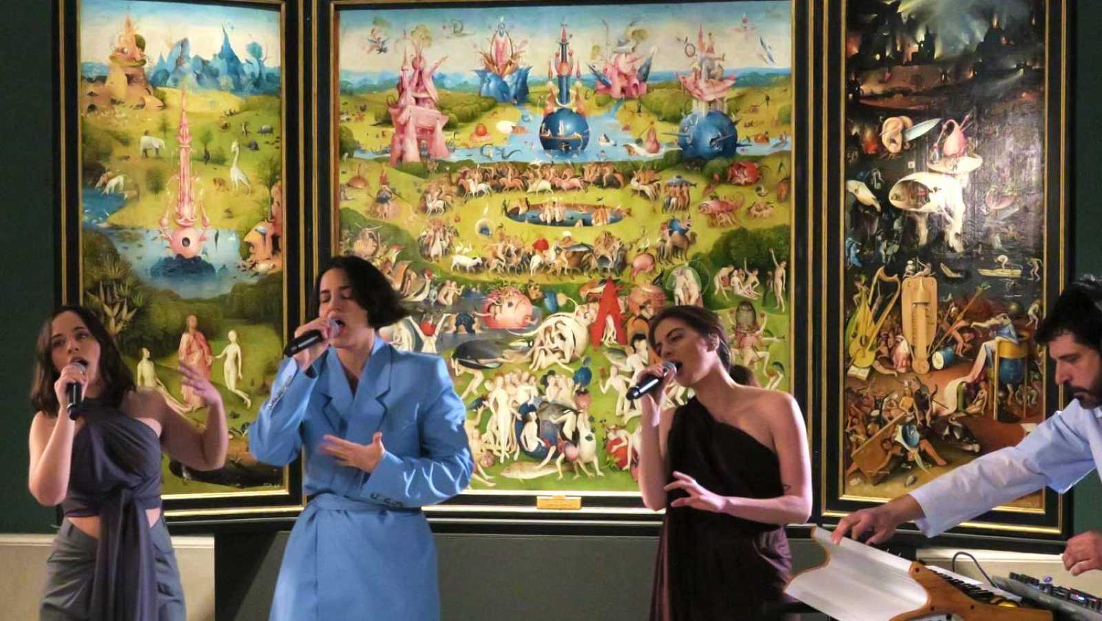 María Arnal i Marcel Bagés con Radio 3 Extra en el Museo del Prado