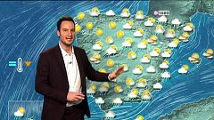 Cielo nuboso con precipitaciones en la mitad sur de Andalucía, Murcia y mitad sur de la Comunidad Valenciana