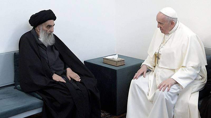 Histórico encuentro en Irak entre el papa Francisco y el ayatolá Al Sistani