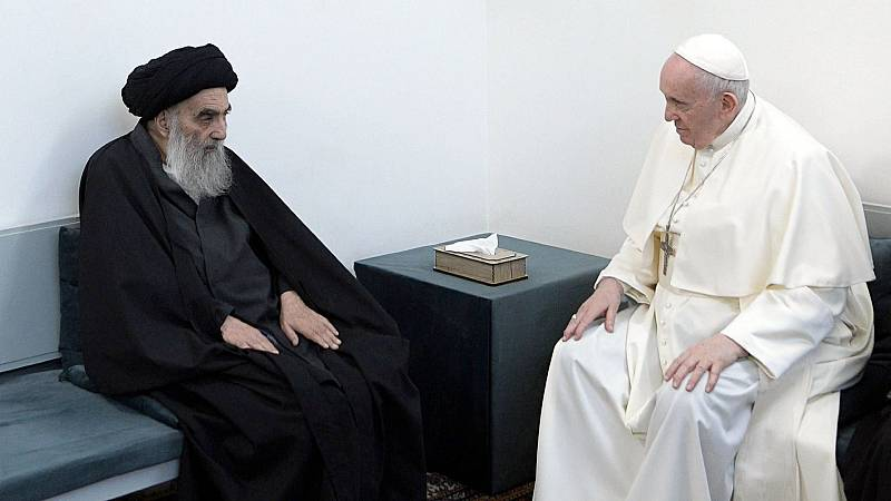 El papa Francisco y el ayatolá Ali Al Sistani hablan de la difícil coexistencia entre el islam y el catolicismo en Irak