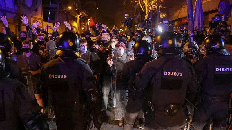 Nueva jornada de protesta en Barcelona por la libertad de Hasel