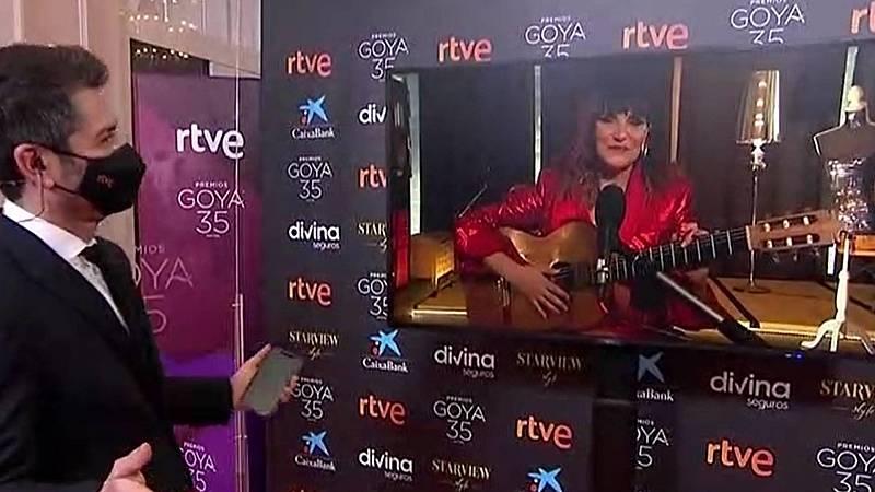 Rozalén canta un fragmento de 'Que no, que no', la canción por la que está nominada al Goya