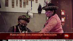 Mascarillas contra la violencia machista en Perú