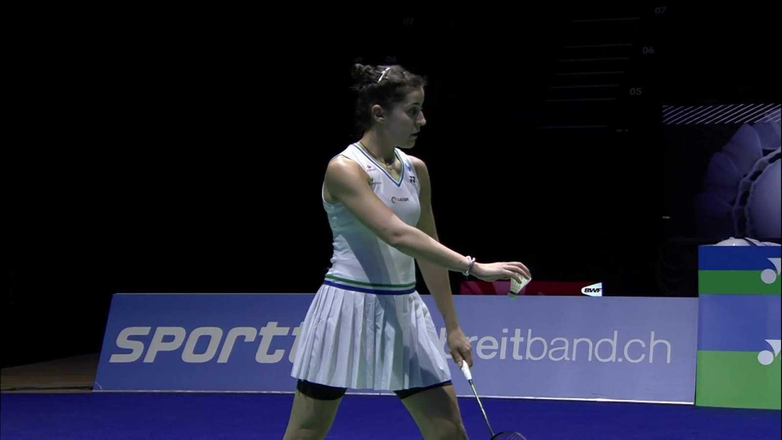 Bádminton - Yonex Swiss Open. Semifinal femenina: C. Marín - P. Chochuwong - ver ahora