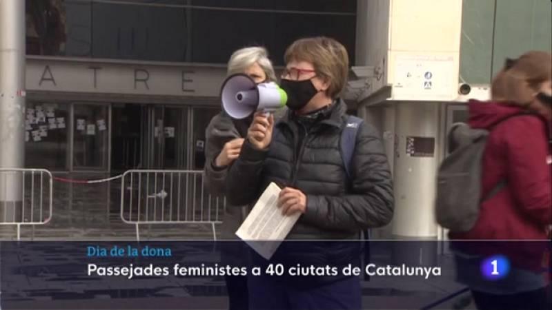Passejades reivindicatives a Catalunya com a prèvia del 8-M