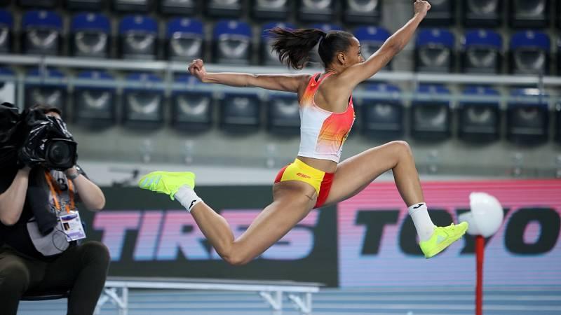 Ana Peleteiro, a un centímetro del oro en el triple salto de Torun 2021